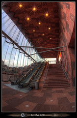 Mas - Interior staircase :: Fisheye (Erroba) Tags: sunset sky glass clouds stairs canon reflections river caitlin boats lights mas belgium belgique harbour ships curves belgi sigma fisheye staircase inside antwerp schelde curved erlend antwerpen anvers 10mm 60d museumaandestroom erroba robaye
