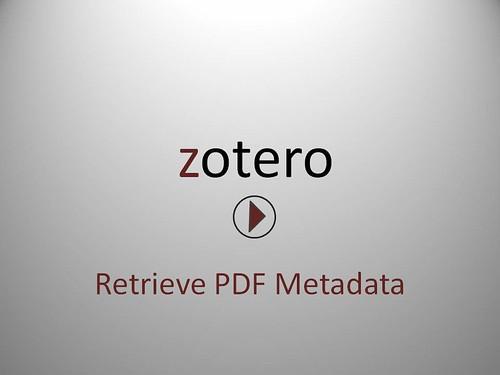 Retrieve PDF metadata screencast