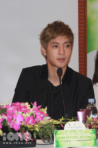 Kim Hyun Joong TFS Press Conference at InterContinental Hotel [110811]