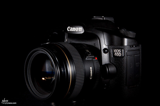 Canon 40D with EF 85mm F/1.8
