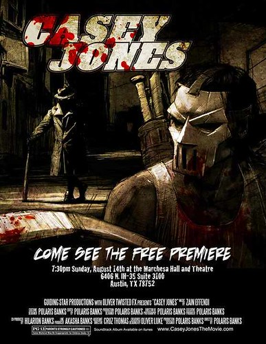 "Guiding Star Prod./ Oliver Twisted FX :: ""CASEY JONES"" .. Preview Screening Poster { small v. ) (( 2011 ))"