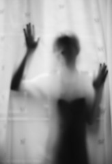 Unknown touch (Anne Lily) Tags: blackandwhite solitude sony ghost touch scream melancholy a55