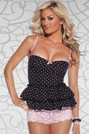 Polka Dot Cami With Underwire Top