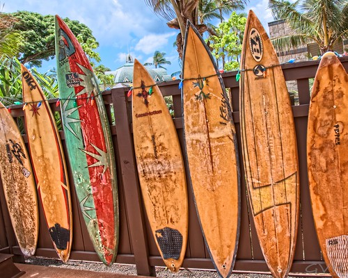 Surf boards at Aulani