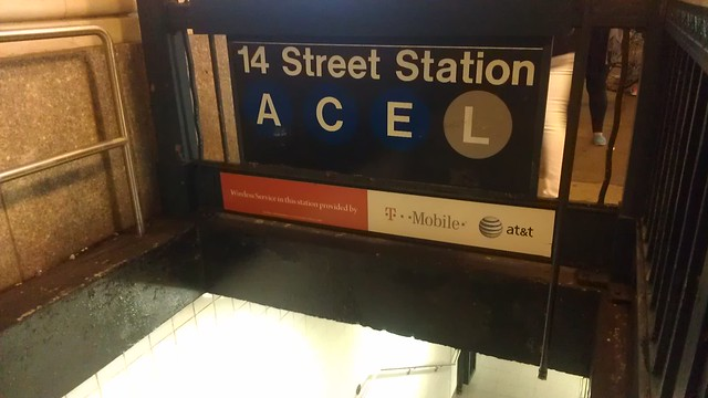 The subway stations that have cell phone service have new signage