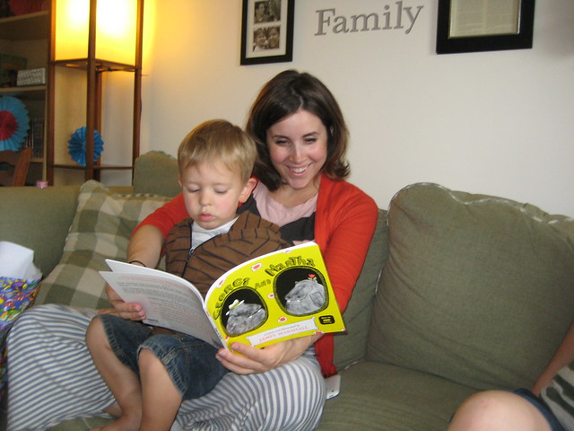 julie + elijah reading.