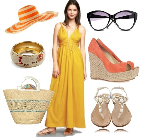 how to wear twist maxi dress in summer