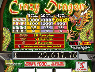 Crazy Dragon Slots Payout