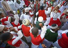 Maulidi procession in Lamu - Kenya (Eric Lafforgue) Tags: africa island dance kenya muslim islam religion culture unescoworldheritagesite afrika tradition lamu prophet muhammad islamic swahili afrique eastafrica mawlid qunia lafforgue  qunia    kea 126568   tradingroute a