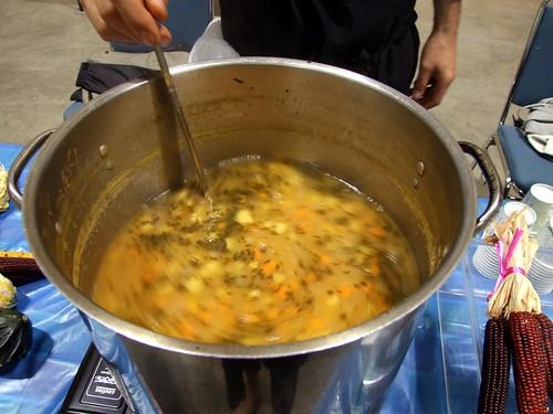 L'eat express's pumpkin minestrone with sage