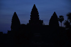 Angkor Wat towers at dawn