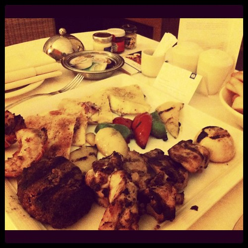 Oriental mixed grill for dinner
