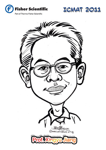 Caricature for Fisher Scientific - Prof. Xingyu Jiang