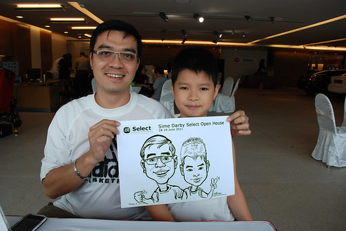 Caricature live sketching for Sime Darby Select Open House Day 1 - 5