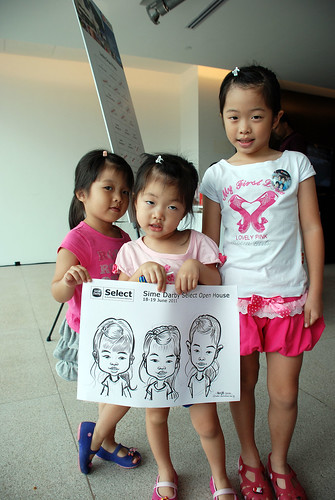 Caricature live sketching for Sime Darby Select Open House Day 2 - 21a
