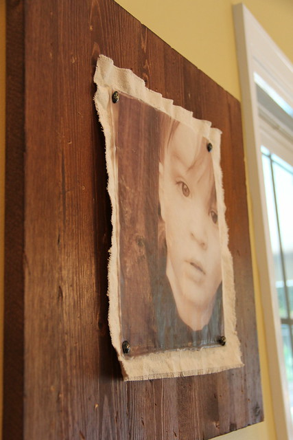 encaustic wax photo frame