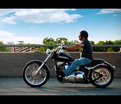 Hit the Road Jack (neuroxik) Tags: road sky canada bike speed freedom highway wind quebec montreal sunny freeway harleydavidson motorcycle biker autoroute