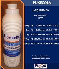 COLA BRANCA PVA PUXECOLA - 500g - 1kg - 5kg - 20kg. (PUXEX DO BRASIL 43 3357.2700 - www.puxexdobrasil.c) Tags: cola branca pva 1kg 5kg 500g 20kg puxecola
