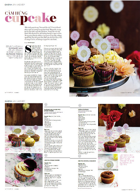 Cupcake article + recipes + photos