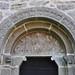 Cain and Abel, North portal, Hablingbo church, Gotland