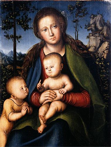 Lucas Cranach l'Ancien, La Vierge, l'Enfant et saint Jean (1514)