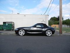 BMW Z4 Cabriolet. Top up. SE Portland.