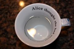 alice. (J3NN) Tags: cup water words drink alice mug wonderland sentence