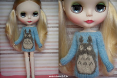 Commission Work (minami626) Tags: sweater knitting mama mohair totoro blythe intarsia