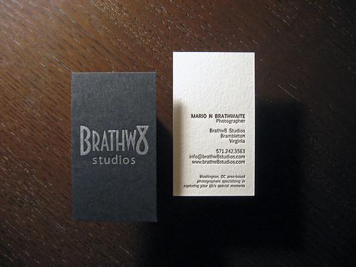 Brathw8 Studios Letterpress Card