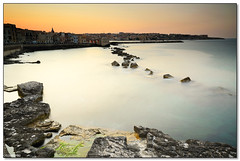 Ortygia - Frozen sunset (ciccioetneo) Tags: italy speed nikon long exposure italia slow view angle wide creative sigma commons cc motionblur filter creativecommons shutter syracuse sicily 1020mm grad hitech sicilia siracusa ortigia ortygia hoya nd400 09gnd d7000 ciccioetneo