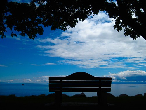 Bench and Ocean, Sechelt BC