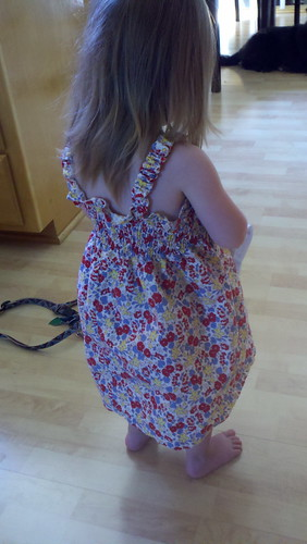smocked sundress back