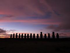 Easter Island Sunrise (jleathers) Tags: chile southamerica sunrise dawn moai easterisland rapanui isladepascua 2011