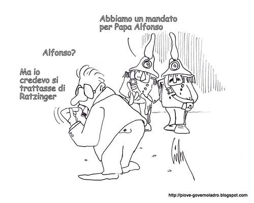 Papa in galera, Bossi ci ripensa by Livio Bonino