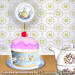 Teapot Wrapper and Topper for Cupcakes