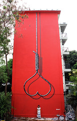 'Heart Noose' - China (SHOK-1) Tags: china light red urban streetart london painting graffiti mural outsiderart heart outsider oppression wallart censorship censored urbanart technical shenzhen spraypaint publicart concept conceptual aerosol technique chiaroscuro shok noose spraycan shok1 oppressed tenebrism cancontrol aiweiwei theshok heartnoose