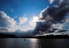 Chiu trn H Xun Hng (Khnh Hmoong) Tags: sky lake film sunshine clouds landscape vietnam rays dalat fujisuperia200 nikonfm lt