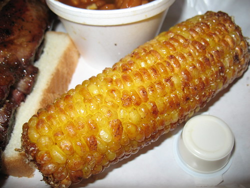 Pappy's Smokehouse: deep fried corn on the cob