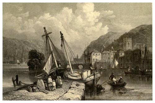 003-Darmouth- Devon en Inglaterra-Stanfield's coast scenery…1836- Clarkson Stanfield