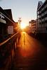 Ocean City Sunset (Cap Blast) Tags: ocean street city sunset shadow orange sun color slr beach canon eos kid md mark maryland atlantic ii boardwalk 5d dslr oc setting