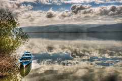 Glyaz, Bursa (Nejdet Duzen) Tags: trip travel cloud lake reflection turkey boat trkiye sandal bursa bulut gl yansma turkei seyahat uluabatlake glyaz uluabatgl saariysqualitypictures mygearandme