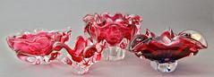 Sklo Union Chribska Glassworks Sommerso Bowls by Josef Hospodka, circa 1970′s (afterglowretro) Tags: glass czech union josef glassworks bowls bohemian vases sklo sommerso chribska hospodka