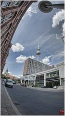 Berlin TV Tower Fisheye (FOXTROT|ROMEO) Tags: summer sky berlin tower alex clouds germany deutschland sommer sony hauptstadt himmel alexanderplatz fernsehturm turm bundestag tvtower metropole nex bundesrat fischauge fischeye berlincalling grosstadt grunerstrase nex5