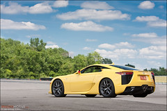 Lexus LFA (jeremycliff) Tags: cliff chicago yellow race canon japanese illinois track fast autobahn jeremy exotic custom expensive rare supercar lfa joliet lexus lexuslfa autobahncountryclub jeremycliff myacreativecom photomotive thephotomotivecom jeremycliffcom