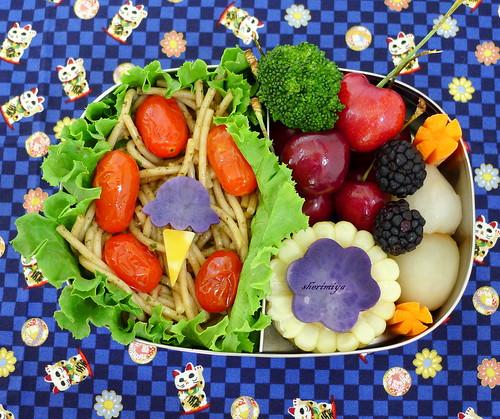 Pesto Tomato Pasta Bento by sherimiya ♥