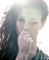 Fusion (FLASHFLOOD) Tags: arizona portrait woman sun girl canon hair model eyes desert sedona highkey intimate lensflair