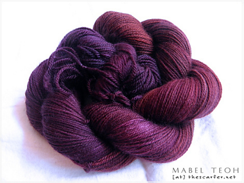 Handdyed Superwash Merino Yarn - Dark Cherry