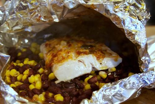 Foil-baked fish 1