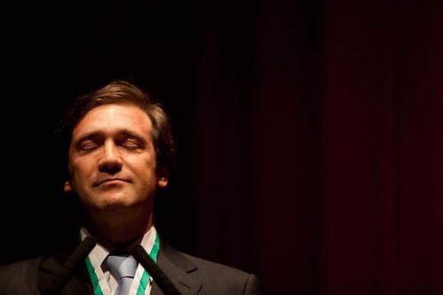 Reportagem sobre Passos Coelho em Vila Real.