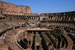 Inside The Colosseum (photographerglen) Tags: city travel summer vacation italy rome roma history canon italian ancient europe italia roman euro historic colosseum travelphotography hoilday insidethecolosseum worldicon photographerglen